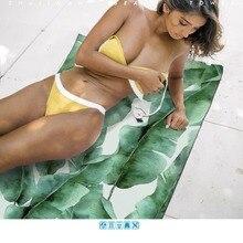 Брендовое пляжное полотенце из микрофибры с пальмовым листом для серфинга дайвинга путешествие Леопардовый принт быстросохнущее полотенце