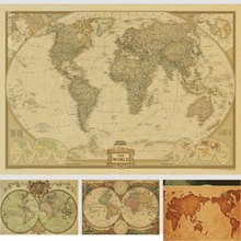 Buy world map and get free shipping on aliexpress vintage world map home decoration detailed antique poster retro cloth poster globe old world nautical map gumiabroncs Image collections