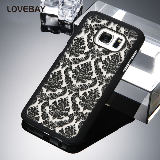 Lovebay Phone Case For Samsung Galaxy S6 S6 Edge Plus S7 S7 Edge S3 S4 S5 Note3 Note4 Note5 Vintage Lace Flower Hard PC Covers