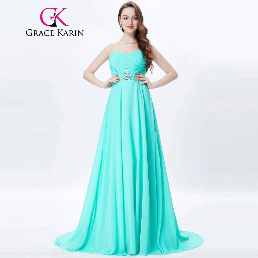 Бирюзовое вечернее длинное платье