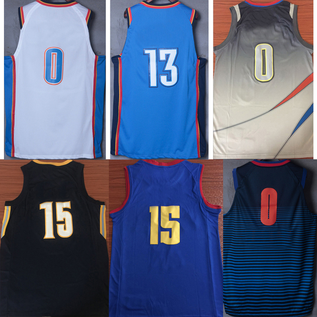 outlet store 0fa00 dc802 US $15.96 5% OFF|Tank tops Russell Westbrook Paul George Nikola Jokic  Andrew Wiggins Karl Anthony Towns Derrick Rose city edition jerseys-in Tank  Tops ...