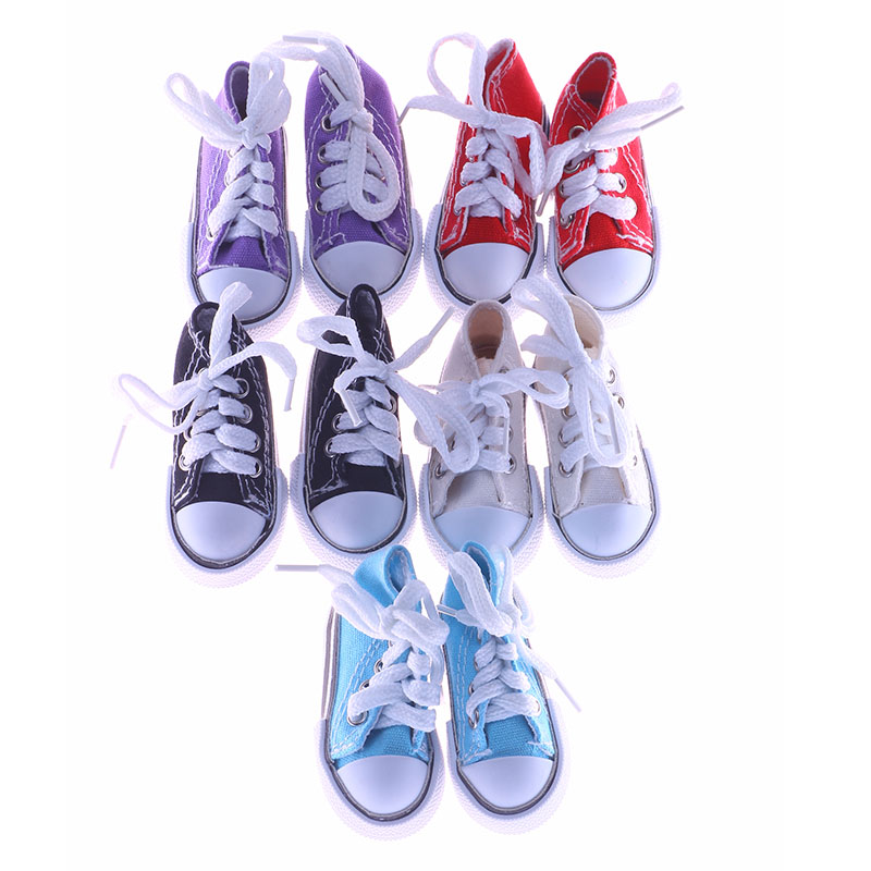 High quality handmade 5 color 7.5cm canvas shoes for 1/4 BJD doll accessories uncle 1 3 1 4 1 6 doll accessories for bjd sd bjd eyelashes for doll 1 pair tx 03