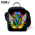New 3D Colorful Animals Portable Lnsulated Lunch Bag for Kids Tiger Cat Thermal Food Picnic Women Lunch Bags Bento Lunch Box