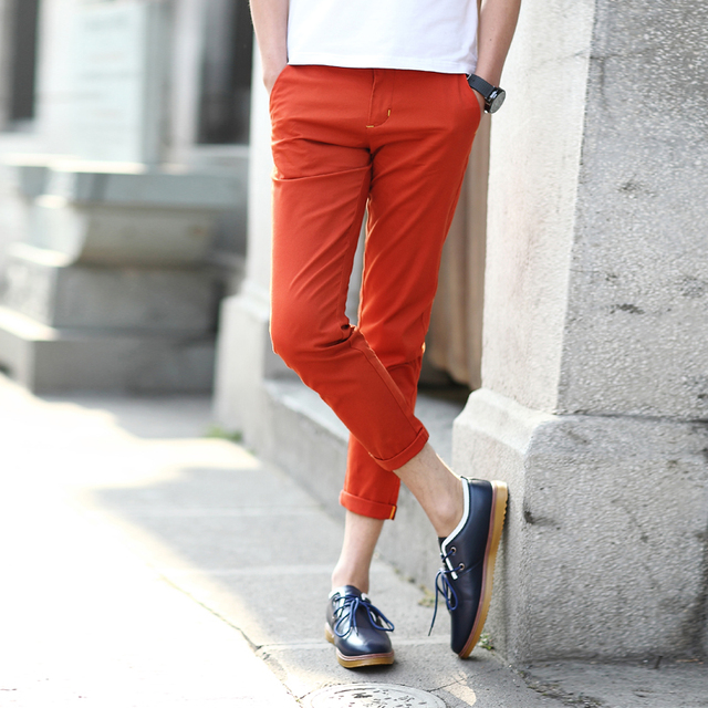 2019 Hot Sale Men S Fashion Slim Fit Ankle Length Pants Cropped