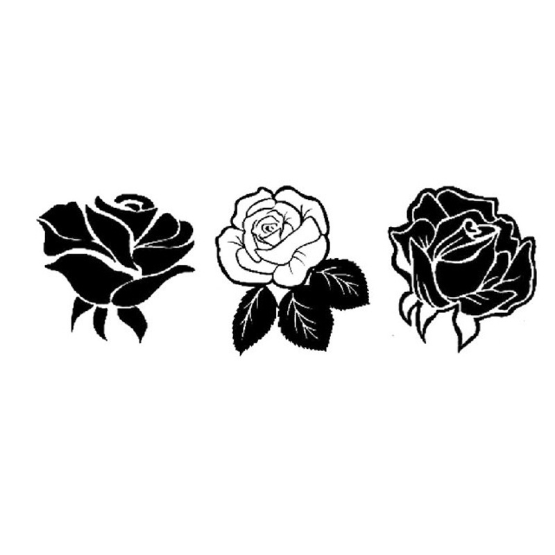 Badge Holder & Accessories Strong-Willed 3 Pcs/set Kawaii Rose Flowers Stamp Diy Toy Self Inking Photosensitive Seal Without Handle Funny Planner Scrapbooking Stamps Office & School Supplies