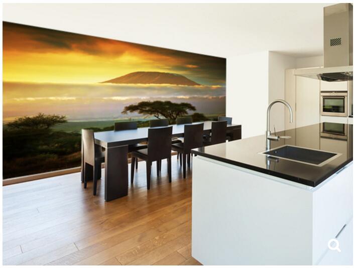 все цены на Custom natural landscape wallpaper,Mount Kilimanjaro,modern photo mural for living room restaurant store wall wallpaper