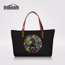 Dispalang Novelty Women Handbags For Working Portable Travel Totes Large  Capacity Female Shoulder Bag Face Painted 884d8e9f19b33