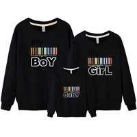 Father Mother Baby Clothing Father Mother Son Matching Outfits Set Autumn Winter Cotton Family Look Coat