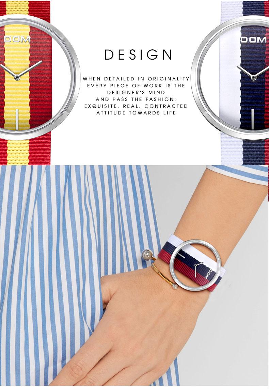 DOM: Reloj de pulsera de lujo para mujer 6