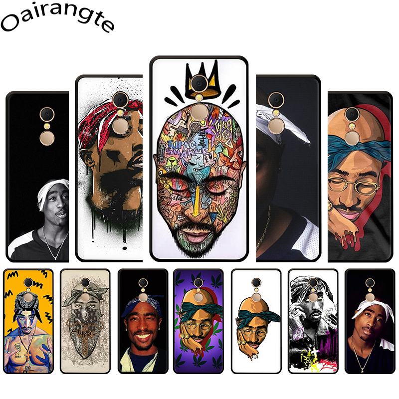 2Pac Tupac Amaru Shakur Soft Phone Cover Case For Redmi K20 5 6 7 A S2 GO Note 5 6 7 8 Pro 4 4X Pro
