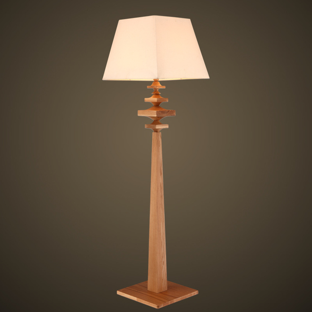 American Country Living Room Floor Lamp Bedroom Modern Minimalist Wood  Study Bedside Lamp Standing Lamp Warm