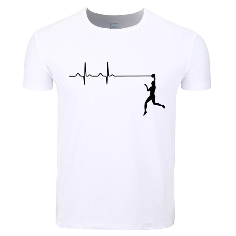 Asian Size Men Women Print Heartbeat Of Volleyballer T-shirt O-Neck Short Sleeve Summer Casual Polyester T-shirt HCP4399