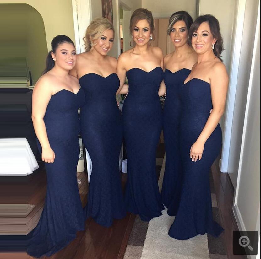 Vestido de festa azul marinho sereia