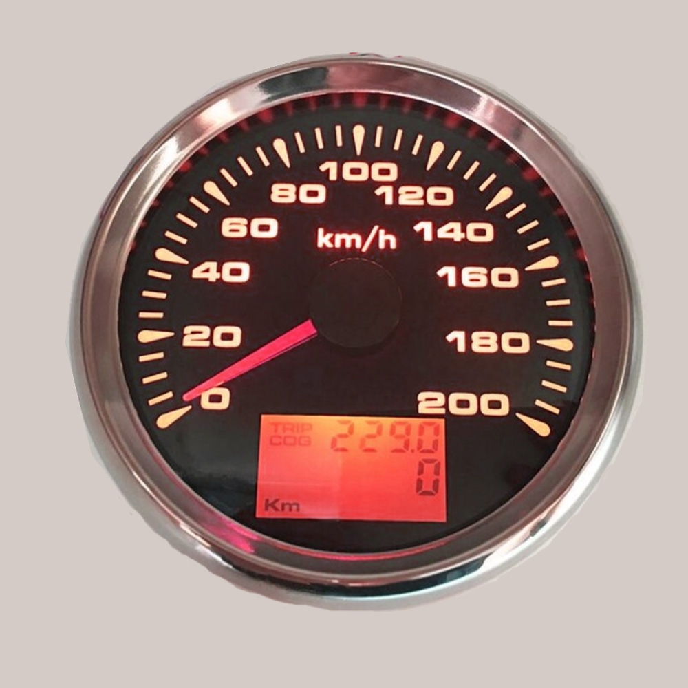 120km/h ,200km/h GPS Speedometer Gauge Boat Car Motor with 7 Color Back light Waterproof Digital Speedometer 9~32V-in Speedometers from Automobiles & Motorcycles    1