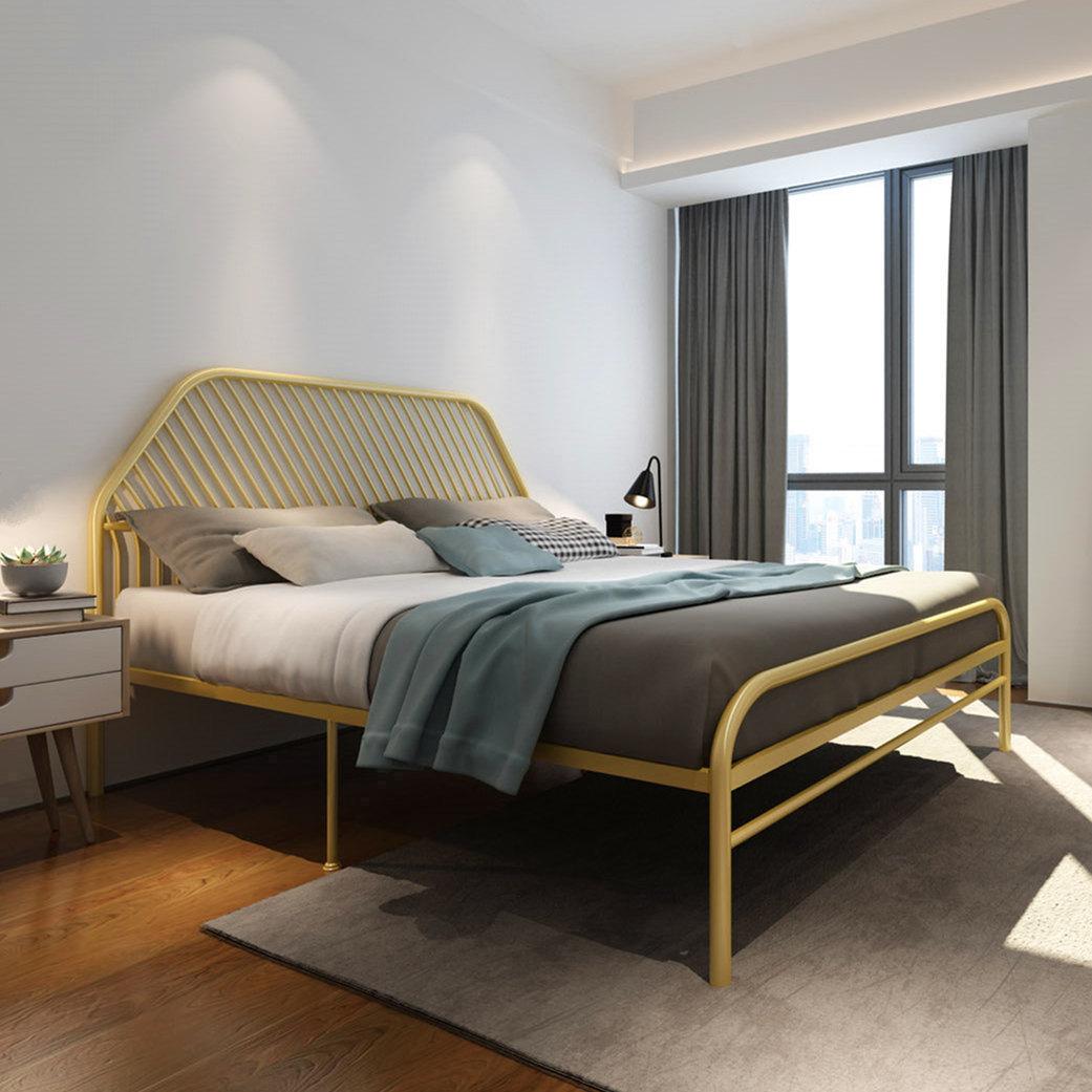 Современный контракт для взрослых 1,8 м Железный арт кровать двуспальная кровать дети железная рама стальная рама кровать для принцессы 1,2 м