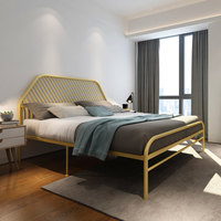 Modern contracted adult 1.8 meters iron art bed double bed children iron frame steel frame princess bed 1.2 meters 1.5