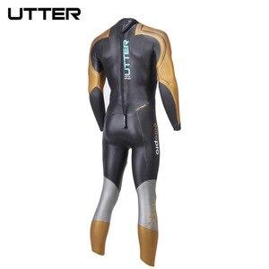 Image 2 - UTTER Elitepro Mens Gold SCS Triathlon Suit Yamamoto Neoprene Swimsuit Long Sleeve Surfing Wetsuit Swimming Suits for Swimwear