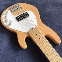 NEW arrival Vicers electric bass in original wood color with 6 strings , hot selling high quality bass guitar