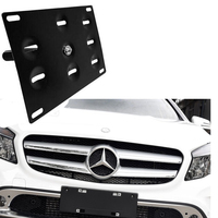 Bumper Tow Hook License Plate Mounting Bracket Holder For Benz W204 W221 W212 W216 W221