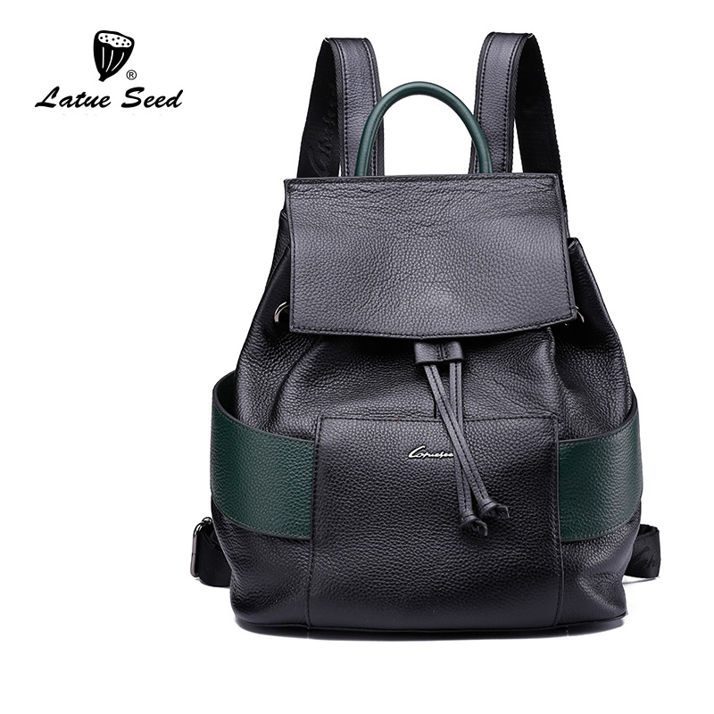 Latue Seed School Style Drawstring Bag Lady Genuine Leather Backpacks 2018 New Splice Casual Hit Color Brands Backpack Latue Seed School Style Drawstring Bag Lady Genuine Leather Backpacks 2018 New Splice Casual Hit Color Brands Backpack