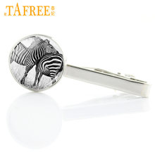 TAFREE brand design handmade animal art tie clips for men dress accessories zebra deer wolf tiger dog birds tie bar jewelry A236(China)