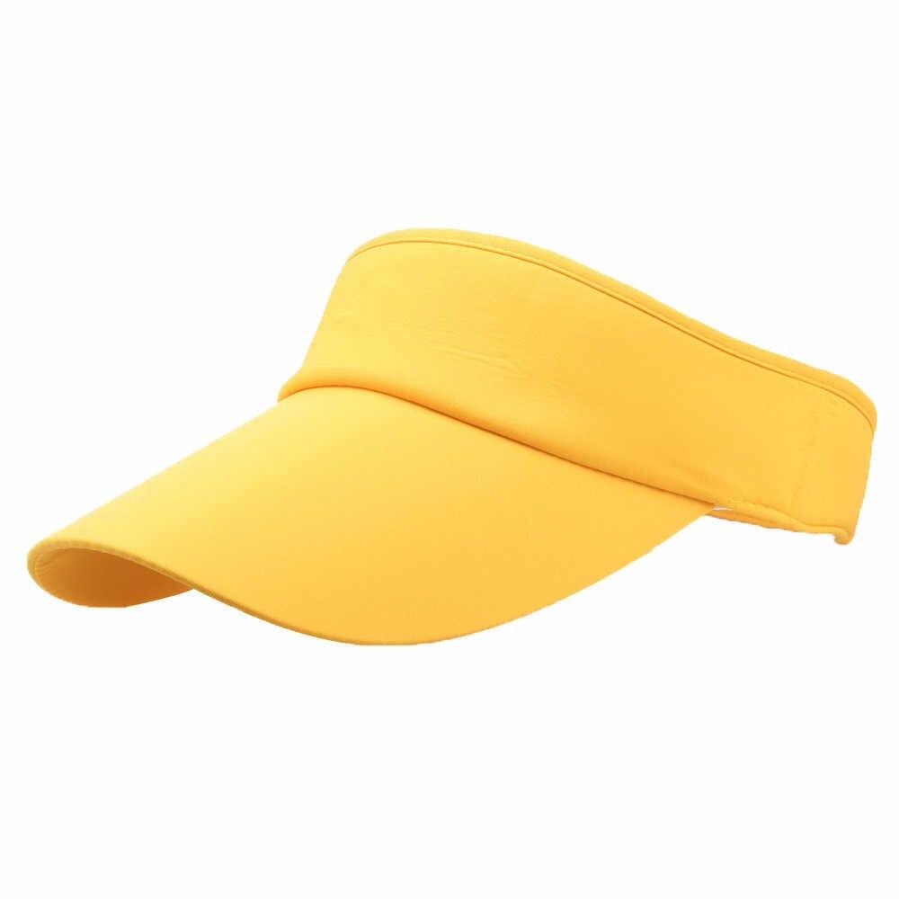 Модная мужская и женская спортивная повязка для головы Классическая Регулируемая солнцезащитная Кепка-козырек Кепка-бейсболка летняя оптовая продажа Бесплатная доставка Z5