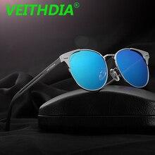 VEITHDIA Brand Designer Men's Polarized Sunglasses Mirror Driving Aluminum Magnesium Eyewear Accessories Sun Glasses Oculos 6109