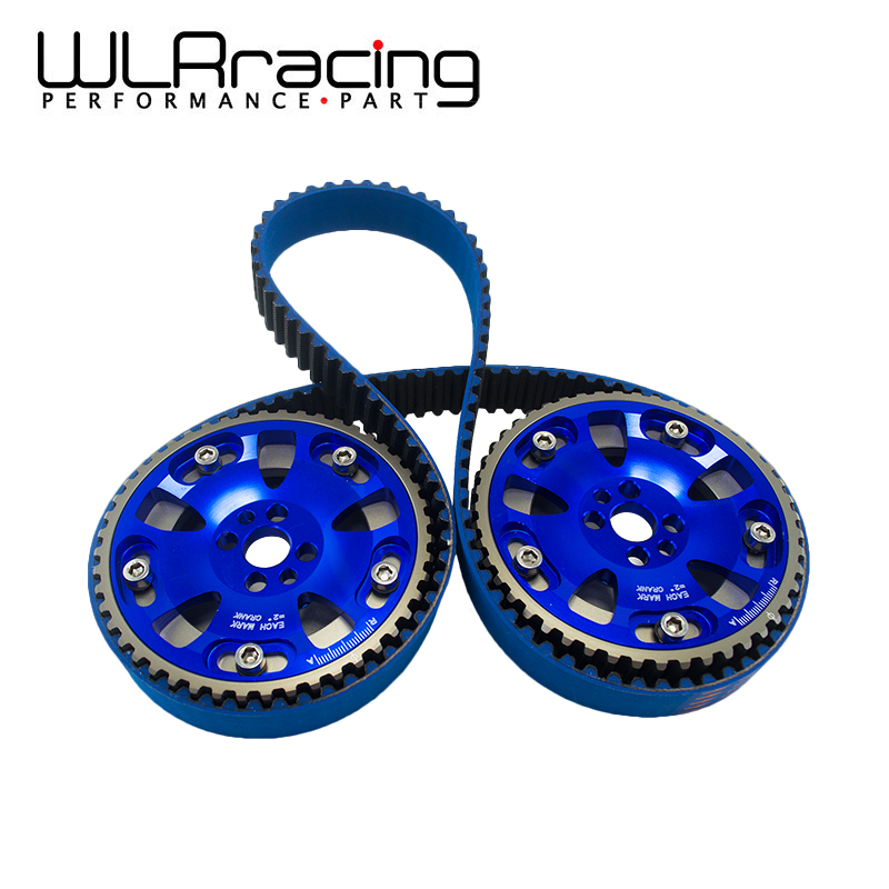 цена на WLR - BLUE HNBR Racing Timing Belt+Aluminum Cam Gear FOR Nissan Skyline R32 R33 RB20 RB25DET RB26DETT RB25 WLR-TB1010+6536B