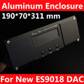 DAC Aluminum Chassis For  New ES9018 DAC with 1602 LCD display hole and XLR hole  ( 190*70*311mm )