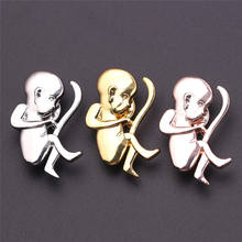 Cute Unborn Baby Shape Pregnant Woman Brooch Pin Badge Nurse Doctor Fashion Pin Accessories Chic Jewelry Cloth Decoratio Gift(China)