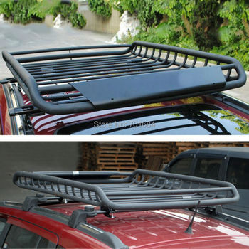 Wotefusi Universal Roof Top Rack Rail Cross Bars Luggage Carrier Cargo Storage Rail