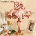 Европейская садовая скатерть  кружевная настольная лампа принцессы для девочек  прикроватная лампа для спальни  Корейская розовая декорат...