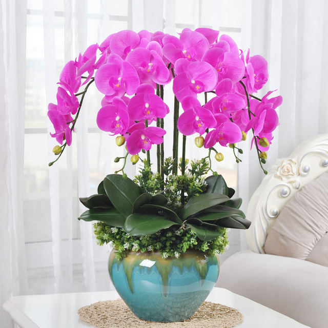Xxxg chinese suit silk flower vase flowers decorated the living room xxxg chinese suit silk flower vase flowers decorated the living room coffee table home furnishing flower mightylinksfo