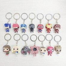 Car Jewelry Keychain Captain America Death Spiderman Cartoon Character Key Ring
