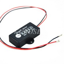Groothandel 10 stks 10.8 V batterij meter indicator monitor voor 10.8 V 11.1 V 3 cellen Ion Lipo batterij
