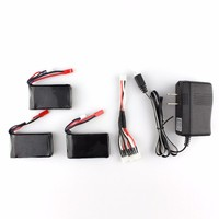 3pcs 7 4V 1300mAh Battery 3 In 1 Charger Cheerson CX 35 CX35 RC Quadcopter Spare