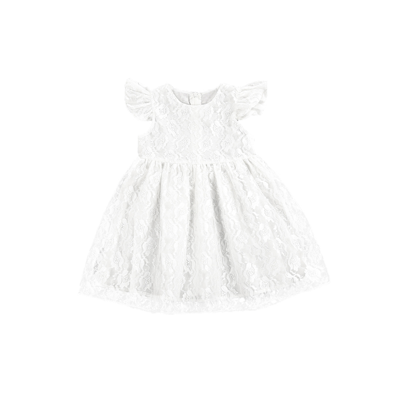 2017 Cute Lovely Newborn Toddler Baby Girls O-Neck A-Line Knee-Length Floral Lace White Princess Dress Outfit Summer Party 2-6T комплект аксессуаров для волос lovely floral