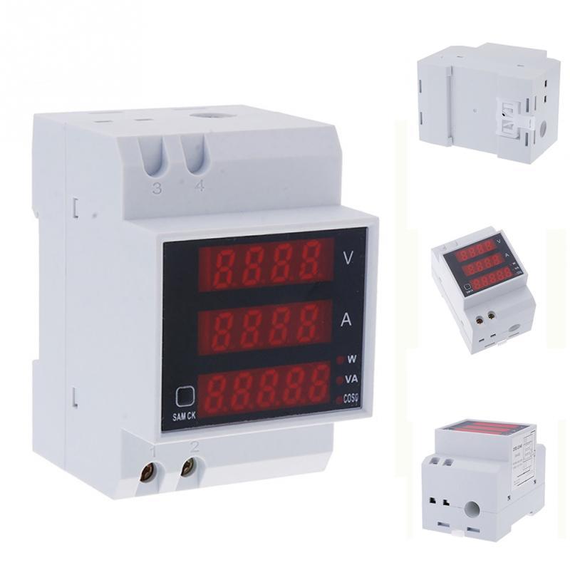 Redelijk 206 Praktische Din Rail Led Ac Voltmeter Ampèremeter Multifunctionele Digitale Meter