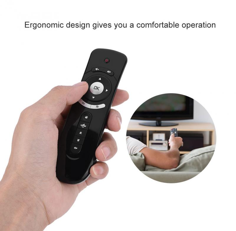 Mini Fly Air Mouse T2 Remote Control 2.4GHz Wireless 3D Gyro Motion Stick For Android TV Box Google TV Media Player Sense PC