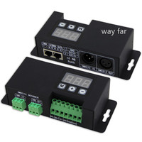 New 3 Channel DMX decoder;DC12 24V input;6A*3CH output,LED DMX512 Decoder Controller RGB 5050 3528 LED Strip Light use BC 853