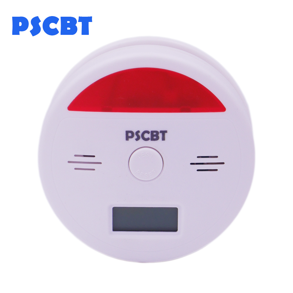 Warning LCD Photoelectric Independent CO Gas Sensor Carbon Monoxide Poisoning Alarm Detector Fire Protection ...