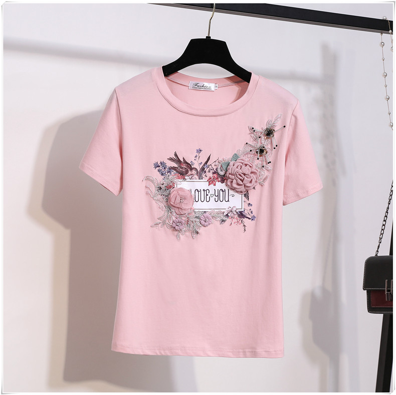 3D Flowers Stylish T Shirts 7
