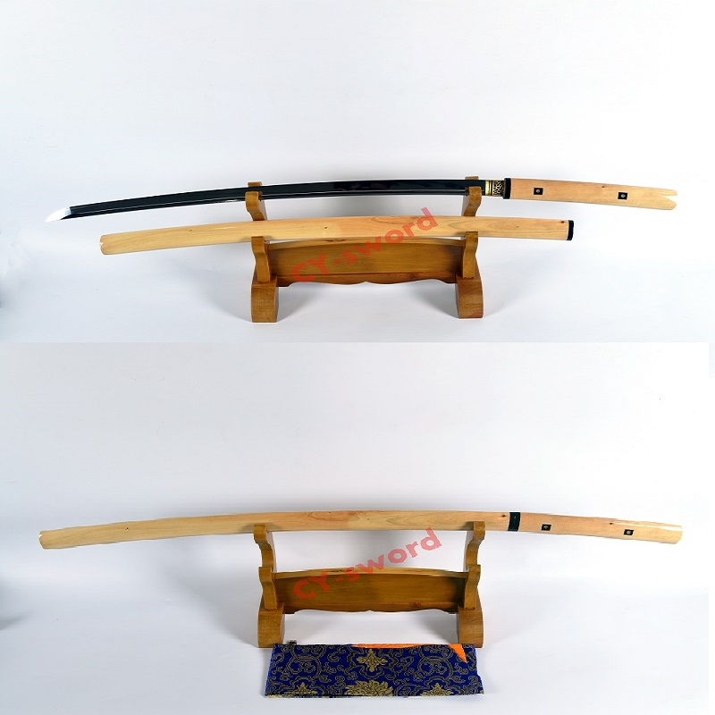Handmade high quality clay tempered japanese shirasaya katana razor sharp blade Sword