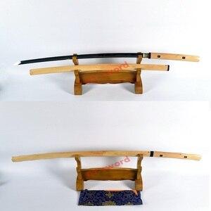 Hecho a mano, de alta calidad, de arcilla templada, espada japonesa shirasaya katana, hoja afilada