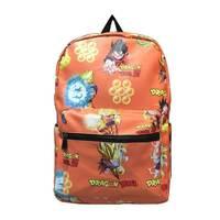 Anime Backpack Dragonball Fashion Leisure Waterproof Canvas Backpack For Women Men PU leather Shoulder Schoolbags Mochila