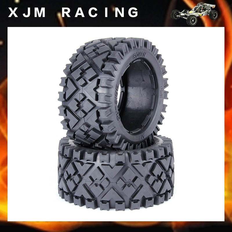 ФОТО Rear All Terrain Tire X2pcs for HPI Baja  5B, SS, 2.0 Tuning Flux Carbon Fighter Or
