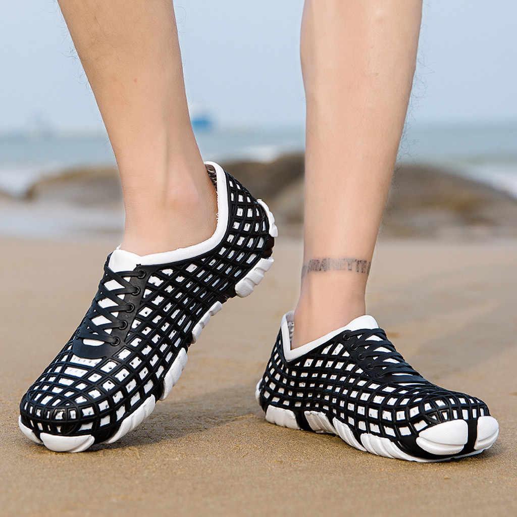 SAGACE 2019 Zomer Casual Mannen Sandalen Slippers EVA Outdoor Strand Gat Ademend Antislip Mannelijke Casual Slipper Schoenen