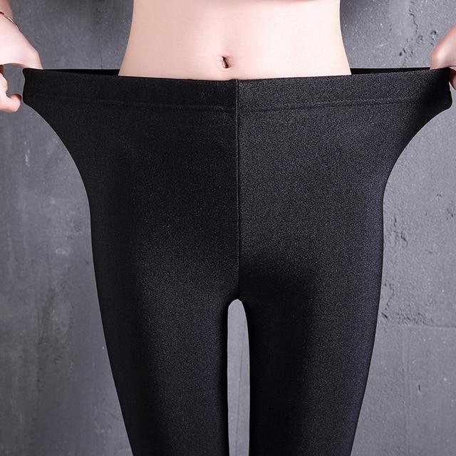 6fcf0fe8c9e62 Women Shiny Black Legging Autumn Ladies Push Up Slim Leggings Large Size  Women Legging