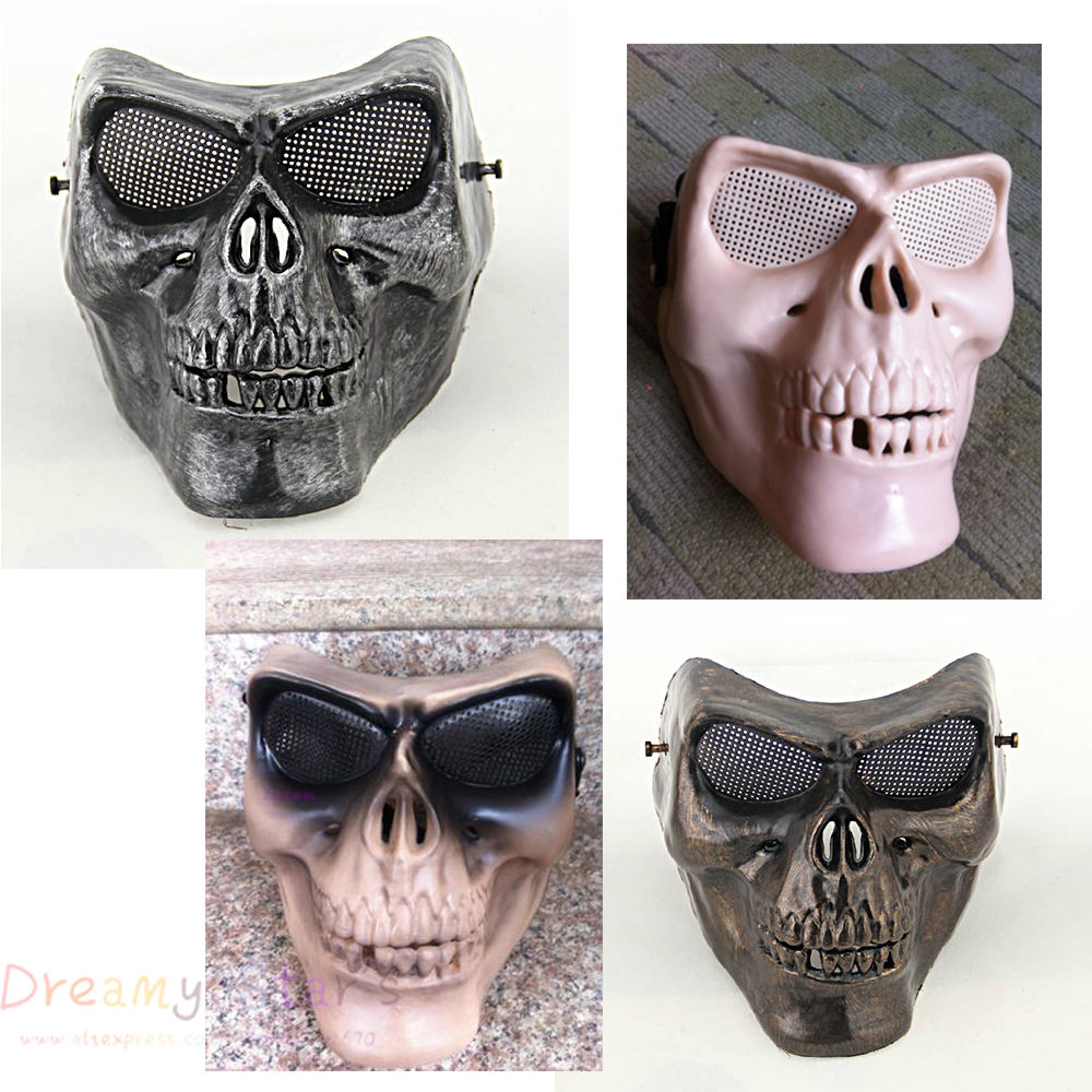 skull Paintball mask ghost protection airsoft Paintball army ...