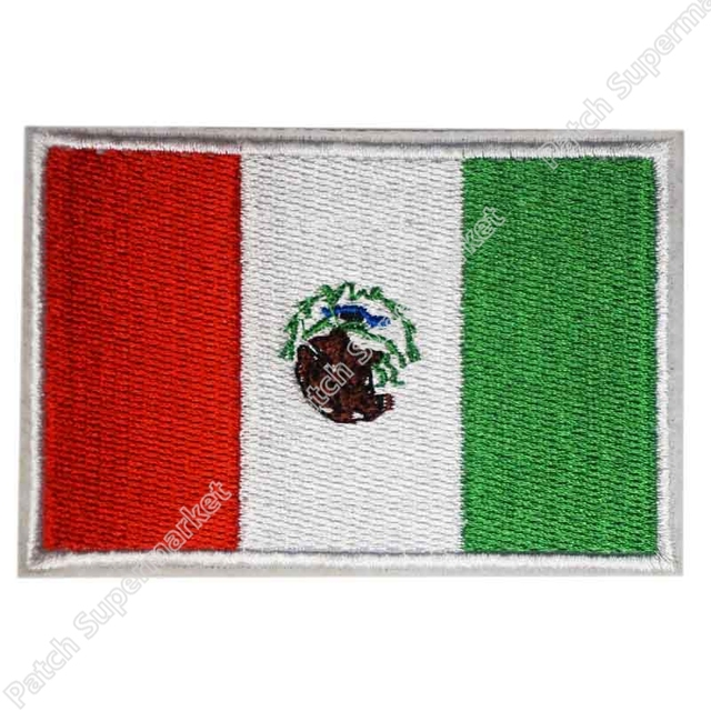 Mexico Flag Embroidered Sew On Patch Mexican Emblem Wholesale Free